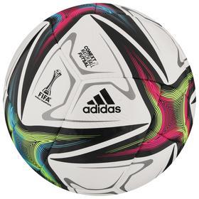 Мяч футзальный ADIDAS Conext 21 Pro Sala, размер 4, FIFA Pro, 18 панелей, ПУ,ручная сшивка, цвет белый/чёрный