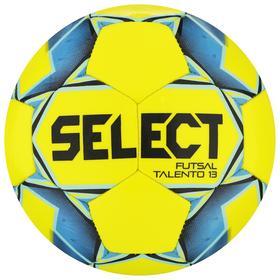 Мяч футзальный SELECT Futsal Talento 13, размер 3, 32 панели, ТПУ, машинная сшивка, цвет жёлтый/синий
