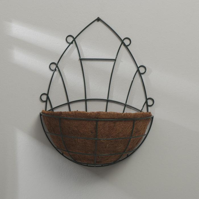 Кашпо настенное, d = 30 см, с кокосовым вкладышем - фото 9215084
