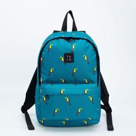 Рюкзак, отдел на молнии, наружный карман, цвет голубой, «Тукан»