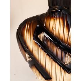 """Ваза настольная """"Аманда"""" коричневая, 35 см, керамика - фото 7327391"""