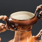 """Ваза напольная """"Флорена"""", хризантема, коричневая, 69 см, микс, керамика - фото 877070"""