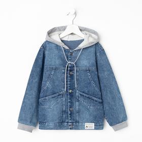 Джинсовая куртка для мальчика, цвет синий, рост 164 см