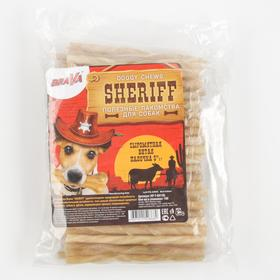 "Лакомство BraVa  Sheriff для собак сыромятная витая палочка 5"" 12,5см, 100 х 5-6 г"