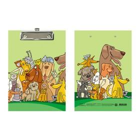 Планшет с зажимом А5, ламинированный картон, Канцбург, «Профессиональная команда»