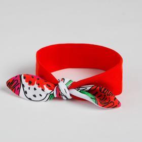 Повязка для девочки, цвет красный, размер 50-53 см (3-6 лет)