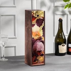 Коробка для бутылки вина, 37,5×11×11 см