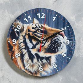 """Часы настенные, серия: Новый год 2022, """"Тигр"""", d=24 см"""