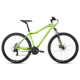 """Велосипед 29"""" Forward Sporting 2.2 disc, цвет ярко-зеленый/черный, размер 21"""""""