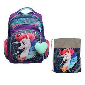 Рюкзак каркасный, Luris «Твинкл», 38 x 30 x 16 см, наполнение: мешок для обуви, «Лошадка»