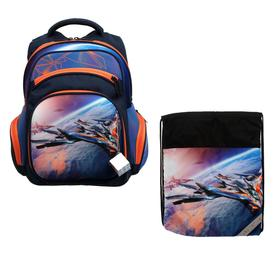 Рюкзак каркасный, Luris «Твинкл», 38 x 30 x 16 см, наполнение: мешок для обуви, «Космос»