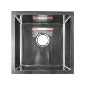 Мойка кухонная GERHANS K34444, врезная, 440 х 440 х 220 мм,  толщина 1,0 мм, с сифоном