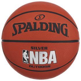 Мяч баскетбольный Spalding NBA Silver, размер 3