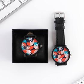 "Часы наручные кварцевые ""Круги"", диам. 4 см"