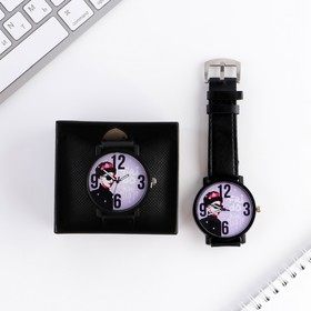 "Часы наручные кварцевые ""Frida Kahlo"", диам. 4 см"