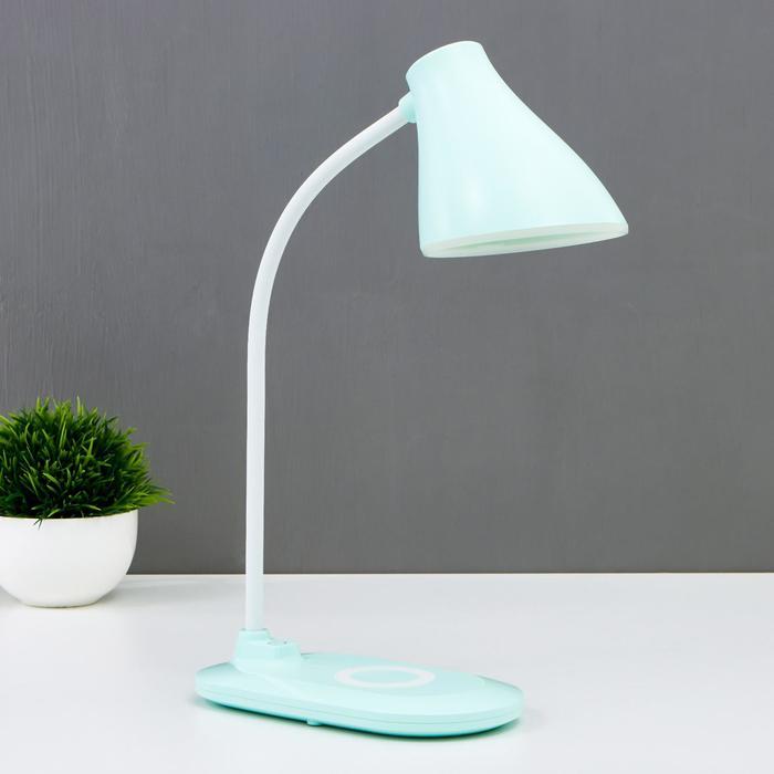 Лампа настольная 16267/1GR LED 3Вт 3 режима USB зеленый 9,7х18х43 см - фото 583628