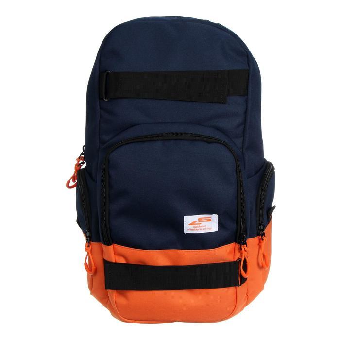 Рюкзак молодёжный, Luris «Скейт», 42 x 27 x 17 см, эргономичная спинка, синий - фото 823669
