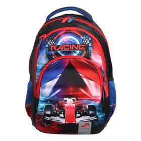 Рюкзак школьный, Luris «Рондо», 44 x 30 x 17 см, эргономичная спинка, «Гонка»
