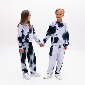 Костюм детский (свитшот, брюки) MINAKU: Tie-dye collection цвет синий, рост 98 см