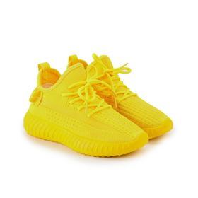 Кроссовки женские, цвет жёлтый, размер 37