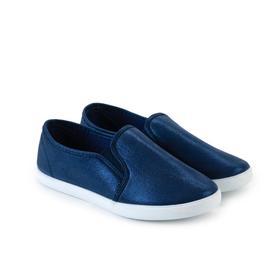 Слипоны женские, цвет синий, размер 37