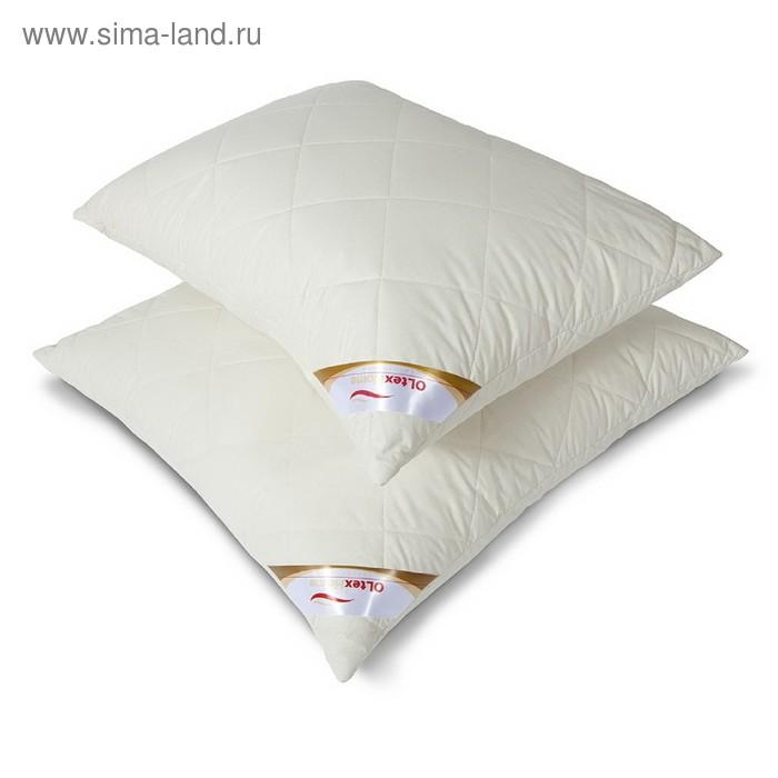 Подушка ОЛ-Текс Меринос 68*68 см, шерсть австрал.мериноса, микроволокно, тик (хл.100%)