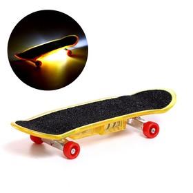 Пальчиковый скейт «Тони», со световыми эффектами, МИКС