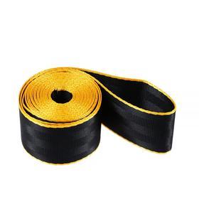 Нейлоновая лента, ремень 4,8 см × 3 м, черный с желтым кантом