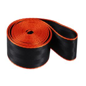 Нейлоновая лента, ремень 4,8 см × 3 м, черный с оранжевым кантом