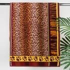 """Полотенце махровое Авангард """"Леопард"""", размер 50х100 см, 420 гр/м2"""