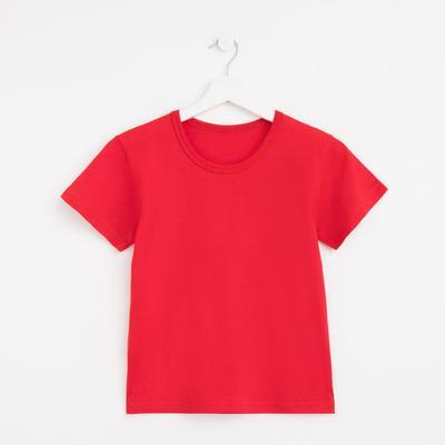 Футболка женская однотонная, цвет красный, размер 48