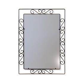 Зеркало Грация, 520x10x720,черный