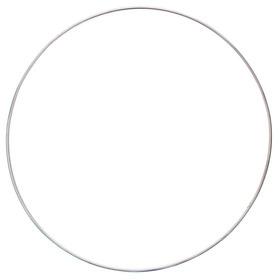 Обруч гимнастический, алюминиевый, d=110 см, 600 г, цвет серебристый