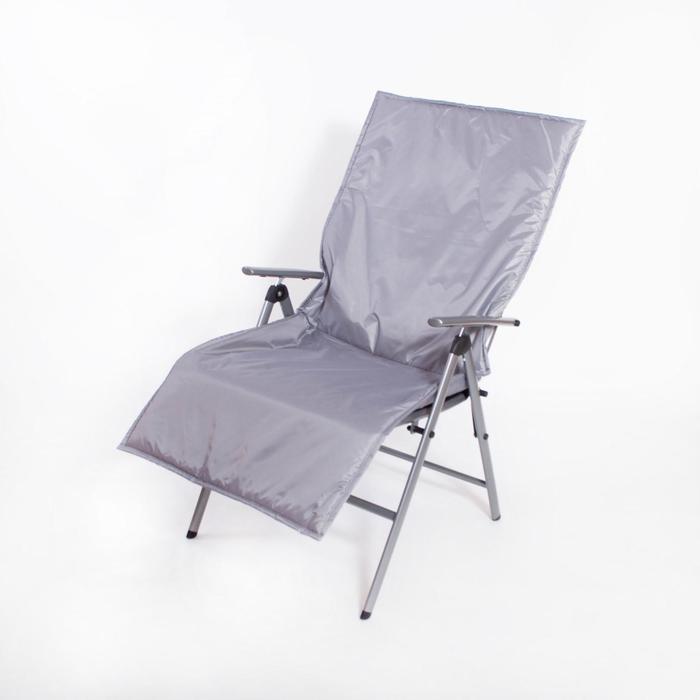 Подушка-матрас водоотталкивающ., серый, 140х60х3,5 см. - фото 871257