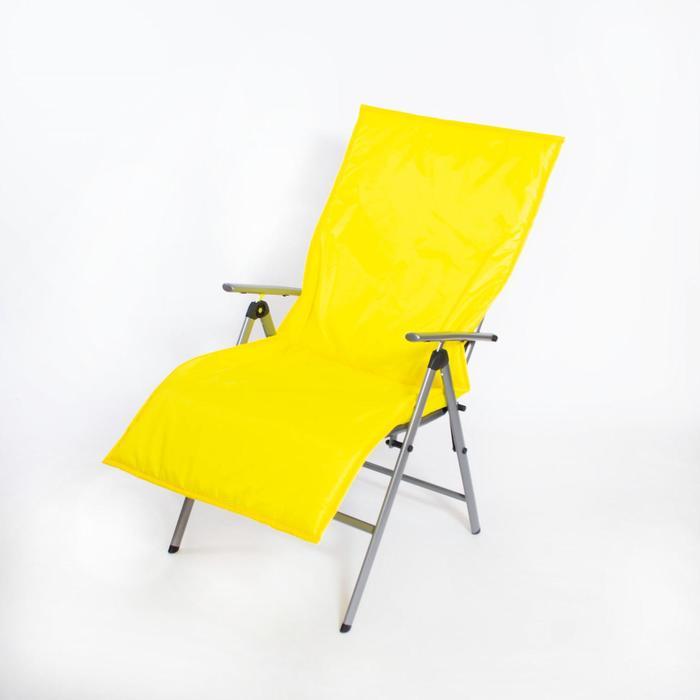 Подушка-матрас водоотталкивающ. 140х60х3,5см, жёлтый - фото 871267