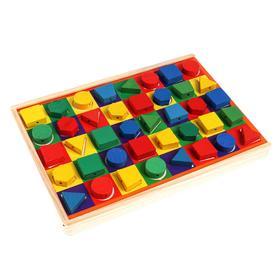 Детский развивающий набор «Шнуровка+конструктор+ доска»