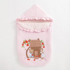 Конверт на молнии «Яблочный садик» цвет розовый