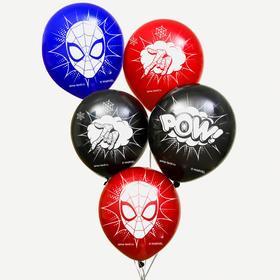"""Воздушные шары """"POW"""", Человек-паук (набор 50 шт) 12 дюйм"""
