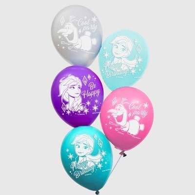 """Воздушные шары """"Cool party"""", Холодное сердце (набор 25 шт) 12 дюйм"""