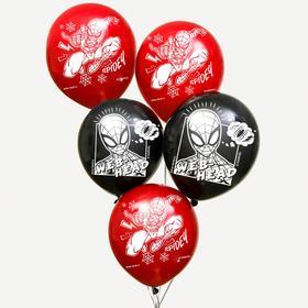 """Воздушные шары """"Spider"""", Человек-паук (набор 25 шт) 12 дюйм"""