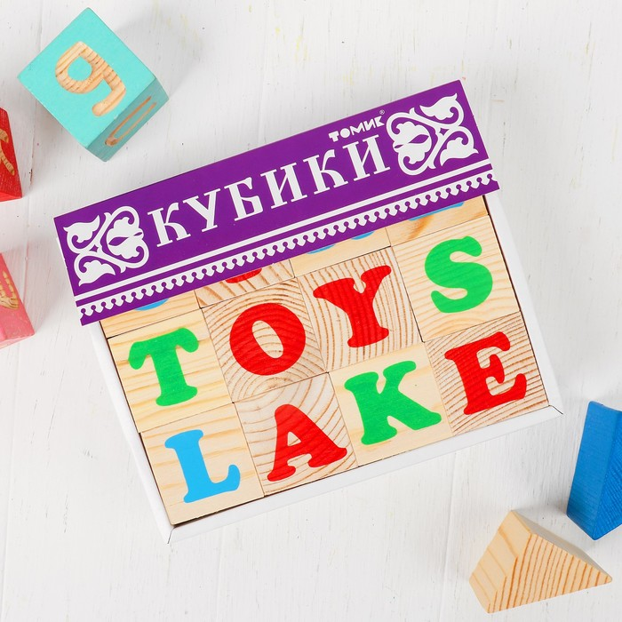 Кубики «Алфавит» английский, 12 элементов