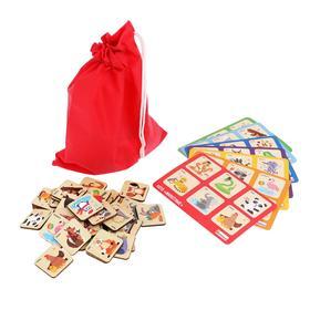 Лото «Животные» 42 фишки, 7 карточек, 22.5 × 13.5 × 5 см
