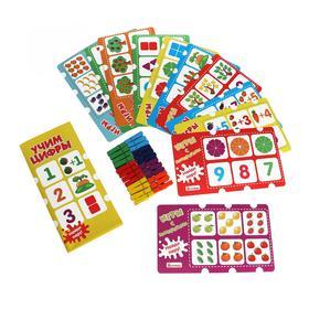 Игры с прищепками «Учим цифры» 12 карточек, 24 прищепки, 22.5 × 13.5 × 5 см