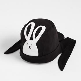 Бандана для мальчика, цвет чёрный/заяц, размер 41-44