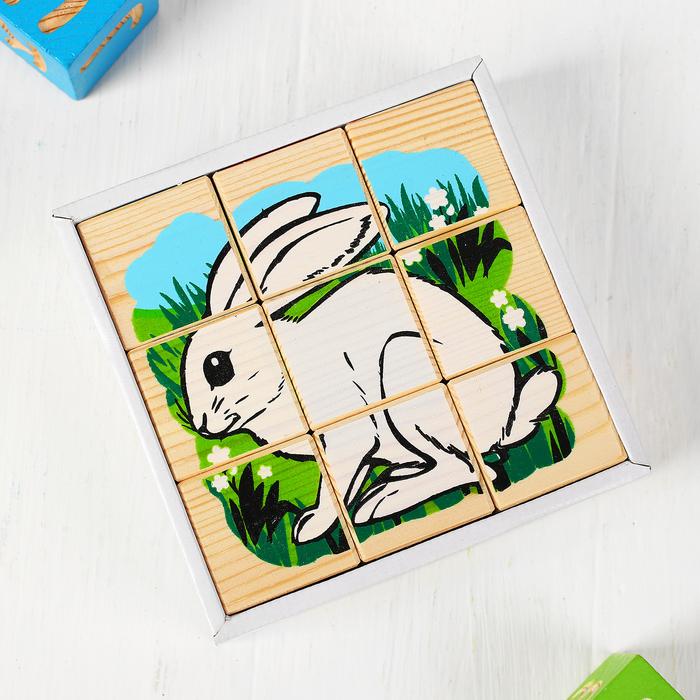 Кубики «Животные леса», 9 элементов