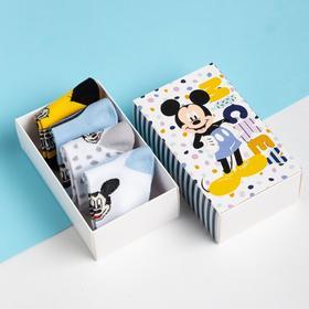 "Набор носков ""Mickey"", Микки Маус, 4 пары, 14-16 см"