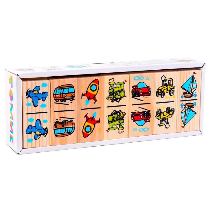 Домино «Транспорт», плашка: 7 × 3 × 1 см