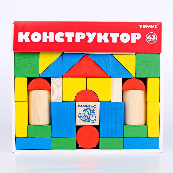 """Конструктор """"Цветной"""" 43 элемента"""