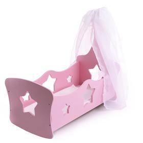 Люлька с балдахином «Созвездие» розовая