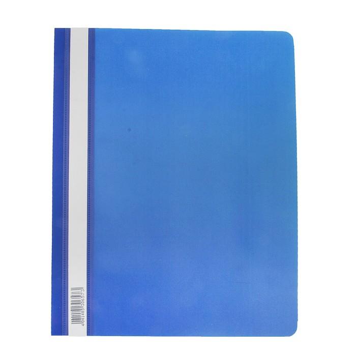 Папка-скоросшиватель A4 Erich Krause Semi-Clear Economy, синяя